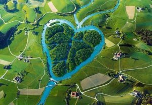 The Heart River, a tributary of the Missouri River