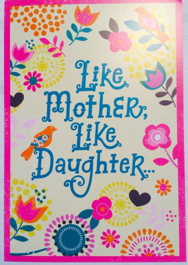 mom's day card