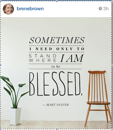 Of course, Brene Brown shared the idea. She's full of ideas.