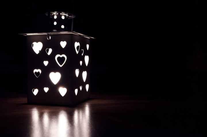 gray candle lantern